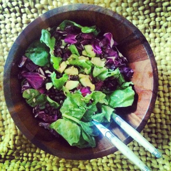 just a salad.