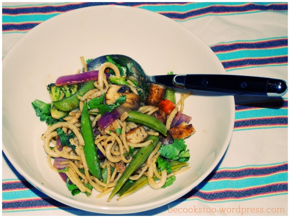 buckwheat noodles are rockin' it!
