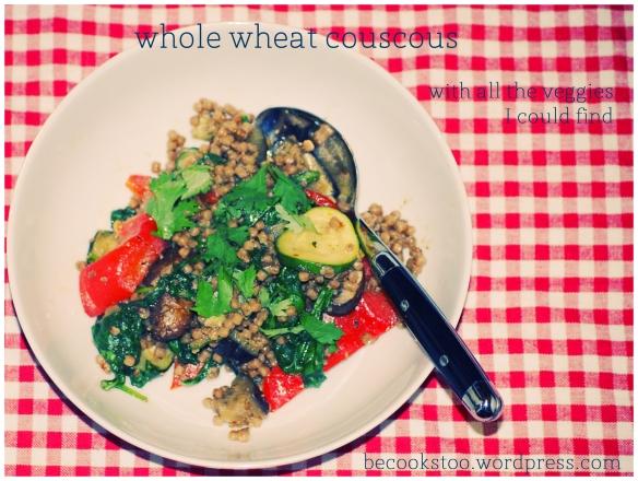 whole wheat couscous - carb loading part 2