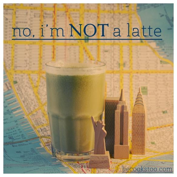 No, I'm NOT a latte