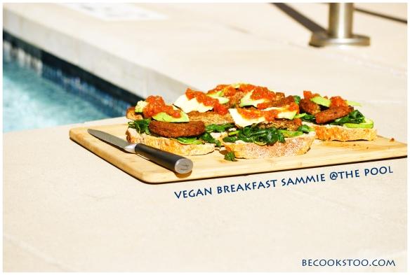 vegan breakfast sammie @ the pool