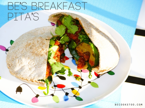stuffed breakfast pita