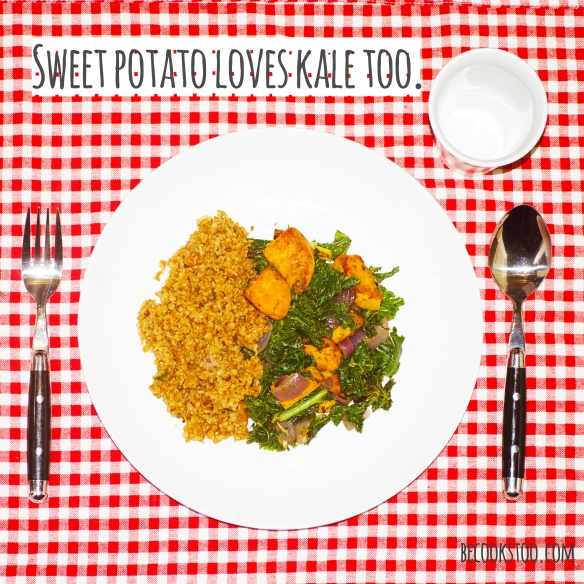 Sweet potato loves kale too!