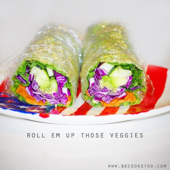 raw veggies wraps