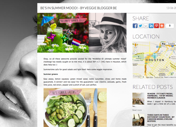 new blog post on Modellist-ID.com: check out those summer veggies!