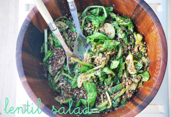 Lentil salad... YUM!
